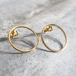 Viveka Bergstrom boucles Ring S doré
