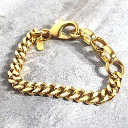 Viveka Bergstrom bracelet chaine gourmette dore