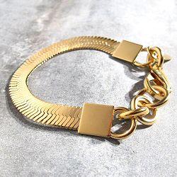 Viveka Bergstrom bracelet chaine serpent doré Snake